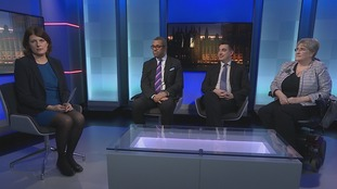Emma Hutchinson was joined by James Cleverly MP (Con), Gavin Shuker MP (Lab) and Baroness Sal Brinton (Lib Dem)
