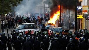 Riots in Hackney