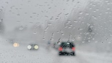 Heavy snow traps drivers on Motorway in Scotland