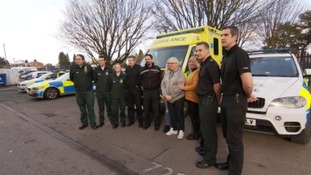 Bristol man reunited with emergency services staff who saved his life