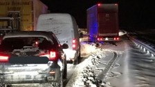 Drivers trapped on motorway overnight by heavy snow