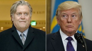 Trump accused of 'gagging' Steve Bannon over Russia probe