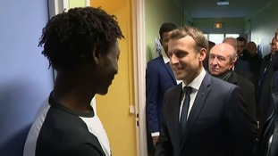 Emmanuel Macron pointedly visited the channel port ahead of his UK visit.