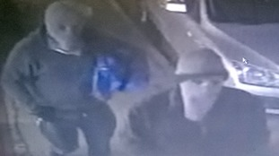 Armed robbers caught on CCTV in Cambridgeshire