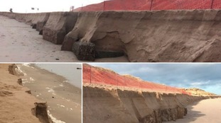 Popular Norfolk beach 'extremely dangerous' after damaging tides