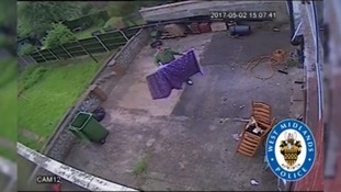 CCTV showing Foster after he murdered Megan