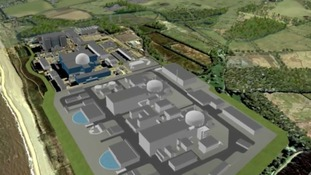 Artist's impression of Sizewell C