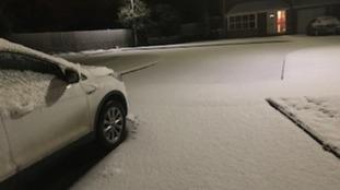 Soft blanket of white in Portadown.