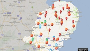 Power cuts are being reported across the Anglia region.