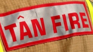 Sign on back of Fire Pfficer