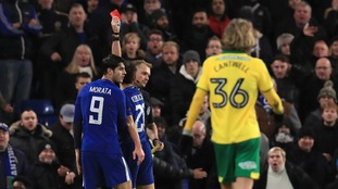 Alvaro Morata was sent off in an action-packed extra-time.