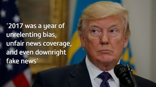 Donald Trump promoted his list with more criticism of US media coverage of his administration.
