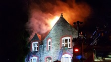 Fire crews battle blaze at care home near Llanrwst