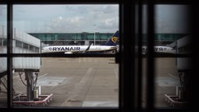 A Ryanair plane at Stansted.