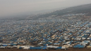 Atmeh camp in Idlib province is heaving under the weight of new arrivals.