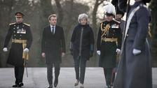 Emmanuel Macron and Theresa May at Sandhurst