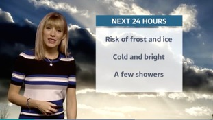 Thursday evening's forecast for the west of the region