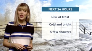 Thursday evening's forecast for the east of the region