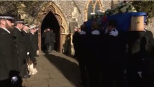Funeral of PC James Dixon takes place in Berkshire