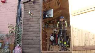 Yorkshire granddad who rides 2,500 miles a year in his shed urges people to get cycling