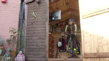 Roy Reynolds cycled the equivalent of 2,500 miles in his shed last year.