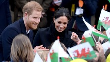 Prince Harry and Meghan Markle delight Cardiff crowds