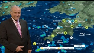 Sunshine and wintry showers in the South West