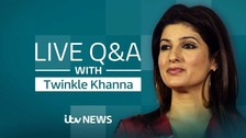 Live: Bollywood star Twinkle Khanna takes your questions