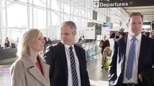 Liz Truss visited Stansted Airport today