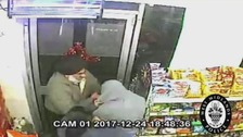 CCTV footage shows Shopkeeper overpowering armed robber