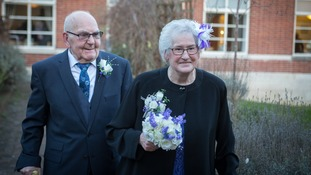 Couple with a combined age of 171 become Britain's oldest newlyweds