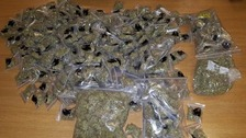 Police have seized a large quantity of drugs.