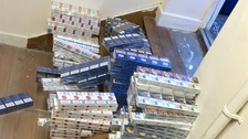 Sniffer dogs find secret stash of illegal cigarettes
