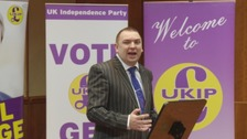 Jonathan Arnott speaking at a UKIP event.