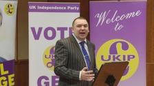 Jonathan Arnott speaking at a UKIP event.