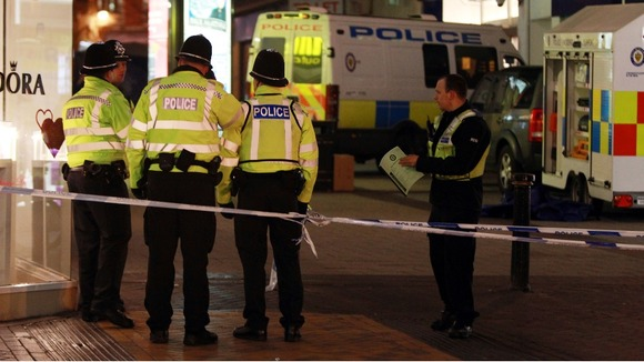 The double stabbing took place in Birmingham city centre shortly after 6pm on Friday.