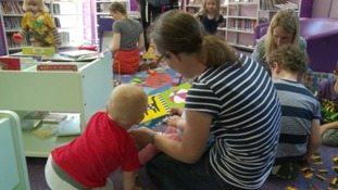 Locals claim that many young families use the library.