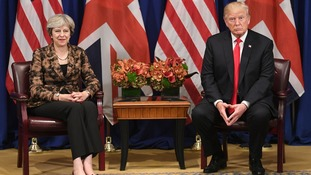 Theresa May and Donald Trump, pictured in September.