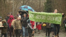 March against plans to build homes Rochdale greenbelt