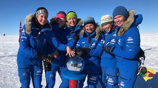 The team became the first all-female group to cross Antarctica unpowered