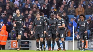 Eden Hazard produced a dazzling display as recently goal-shy Chelsea put four past a hapless Brighton side