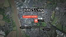 The assault happened in St Dominic Square.