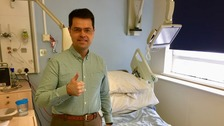 James Brokenshire in hospital.