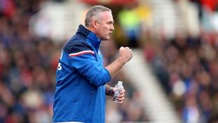 Newly installed Stoke City boss Paul Lambert got off to a winning start as his side overcame a struggling Huddersfield