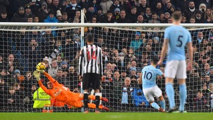 Sergio Aguero's 11th Manchester City hat-trick was enough to see off an unambitious Newcastle side at the Etihad Stadium