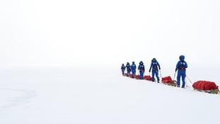 British soldiers break Antarctica crossing record