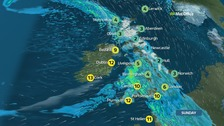 Rain to spread across the country with snow in places