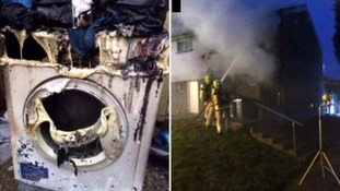 A family was left homeless after an Indesit tumble dryer in 2016.