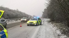 Police warnings after snow flurries in Thames Valley