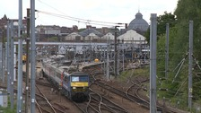 Overrunning engineering works cause train disruption